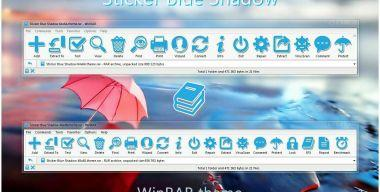 Sticker Blue Shadow WinRAR theme