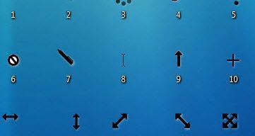 Windows 8 style 2 black cursor