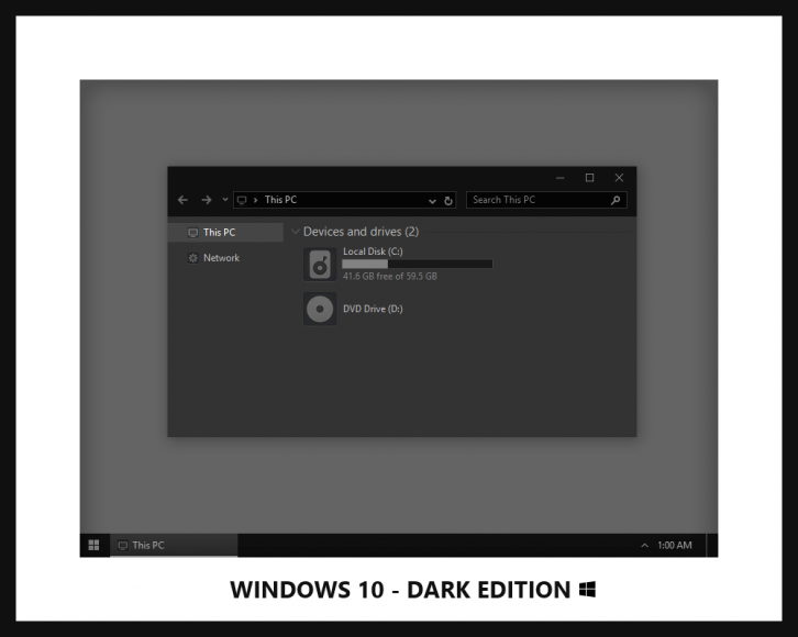 Windows 10 - Dark Edition