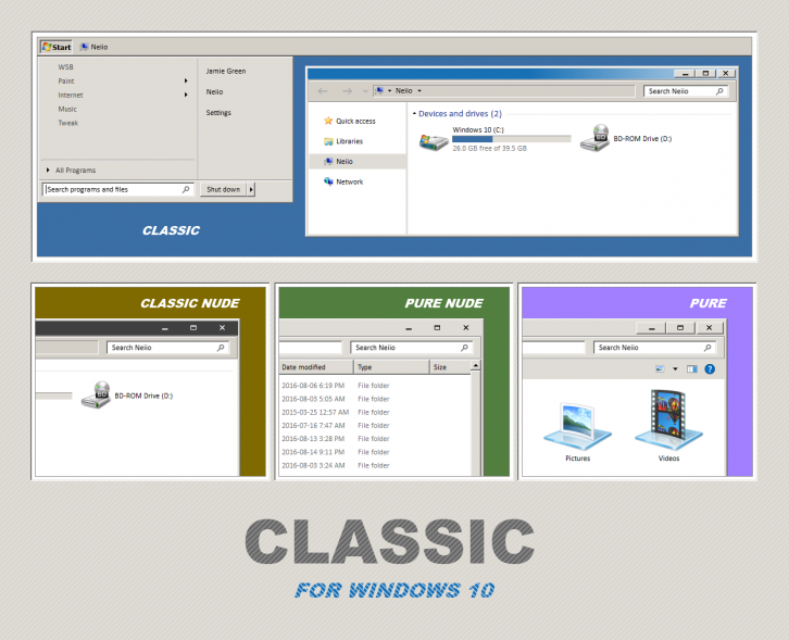 win 98 Themes for Windows 10 RTM