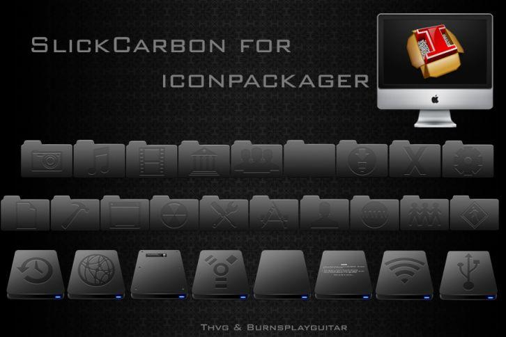 SlickCarbon - Иконки IconPackager
