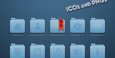 Blue Faenza Folders