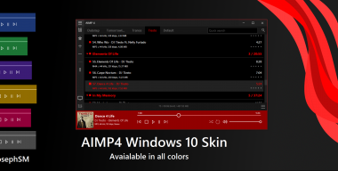 AIMP4 Windows 10 Skin