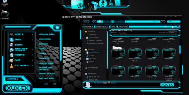 Windows 7 theme blue ek custom