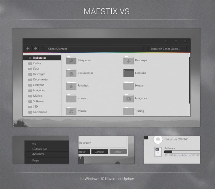 Maestix VS - Темы для windows 10
