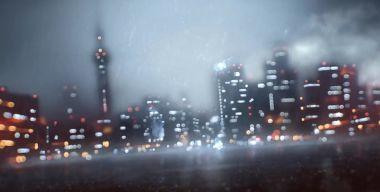 Гроза над ночным городом