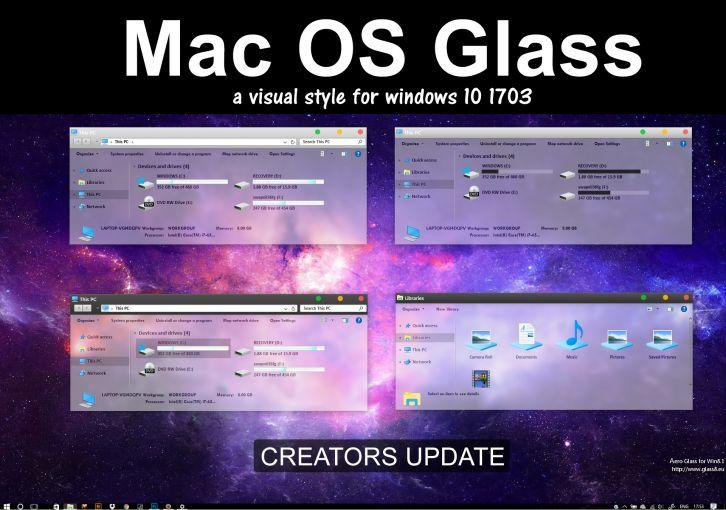 Mac OS Glass - Темы для windows 10