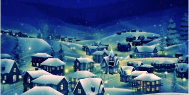 Snow village HD LIve Video Wallpaper