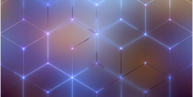 Hex Grid Lines Animated 4K Wallpaper