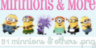 Minnions and more pngs