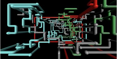 3D pipes screensaver