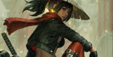 Samurai Girl In The Rain