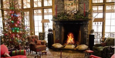 Fireplace New Years and Christmas Live Wallpaper
