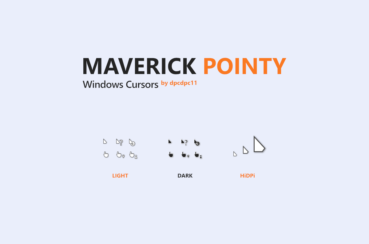 Maverick Pointy Windows Cursors - Курсоры для Windows